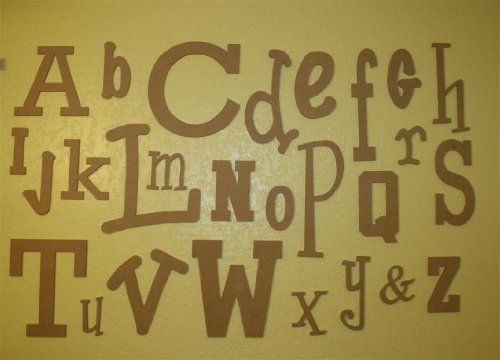 Unfinished Wooden Alphabet Letter Set - Wide