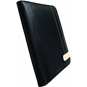 Krusell 71176 Gaia iPad Book Type Premium Leather Case for Apple iPad (Black)