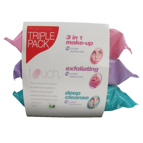 Touch Wipes X3 Pk Makeup Exfoliating Cleansing