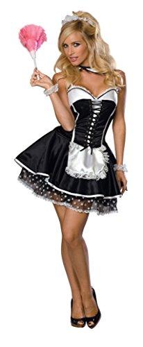 Secret Wishes  Sexy Maid Costume, Black, Small