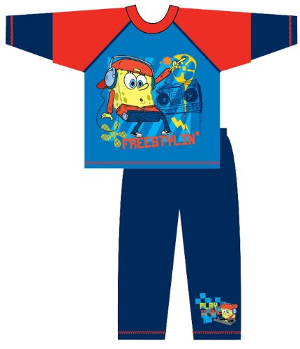 Boys Official Spongebob Cartoon Character Pyjamas Pajama Sleepwear nightwear