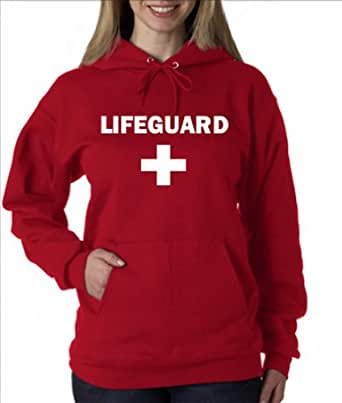 Amazon.com LIFEGUARD HOODIE - RED - 2XL Clothing