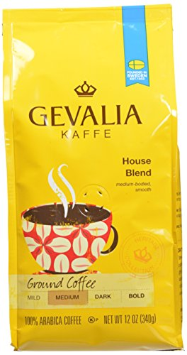 Gevalia Roast and Ground Coffee, House Blend, 12 Ounce (Pack of 6)