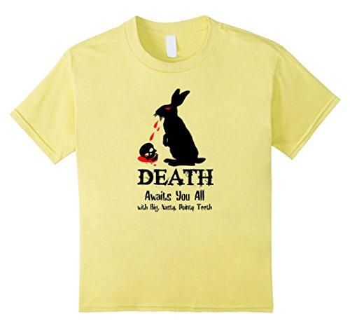 Kids Death Awaits You All With Big Pointy Teeth Shirt 8 Lemon