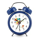 Modern Fashion Lovely Colorful Metal Alarm Clock Deep Blue 947