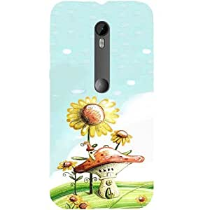 Casotec Sunflower House Design Hard Back Case Cover for Motorola Moto G 3rd Generation