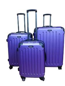 Kenneth Cole Renegade 3-piece Hardside Spinner Luggage Set (purple)