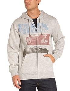Quiksilver B1 MSP Sweatshirt à capuche zippé homme Light Grey Heather FR : L (Taille Fabricant : L)