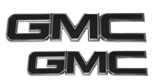 2015-2016 GMC Yukon Yukon XL Black/Polished Grill and Liftgate Emblem Set By AMI (Gmc Grill Emblem compare prices)