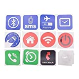 TY NXP NTAG203 Smart NFC Tags w/ Stickers for Sony / HTC / Samsung / LG / Nokia / Acer + More