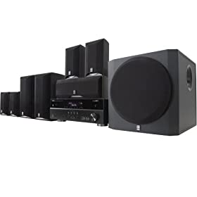 Yamaha yht 895bl complete 7 1 channel home theater system for Yamaha home stereo systems