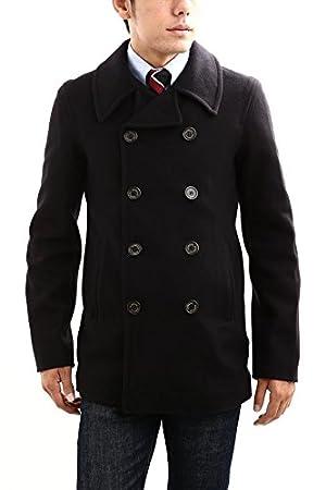 Gloverall (グローバーオール) P-Coat MM-Cloth ナイロン混ウール素材 GLOVERALL 刻印ボタン アセテート素材 ライニング ミドル丈 Pコート (ピーコート) NAVY (ネイビー) Made in England (英国製) Lサイズ ネイビー