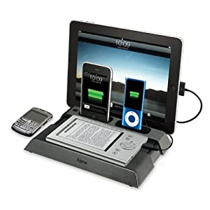 iHome IB969G Charging Station for iPad, iPod, iPhone, BlackBerrys and eReaders