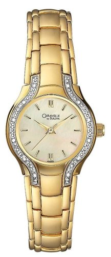 Caravelle By Bulova Women'S 45R000 Diamond Accented Mother Of Pearl Dial Watch