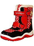 New Girls Novelty Disney Minnie Mouse Character Connect Fluffy Snugg Winter Boot
