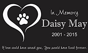 "Personalized Pet Stone Memorial Marker Granite Marker Dog Cat Horse Bird Human 6"" X 10"" Personalised Yorkshire Terrier Weimaraners"
