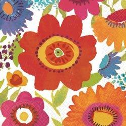 "Amscan - Luncheon Napkins 6.5""X6.5"" 16/Pkg - Floral Splash"
