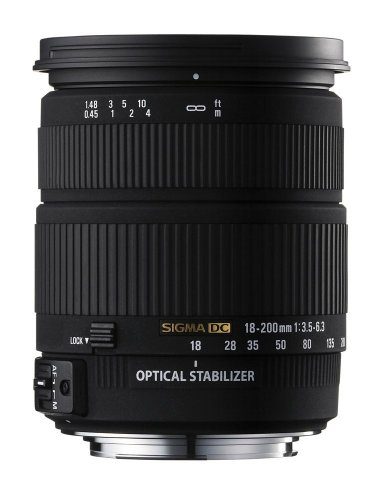 The Electronics World |   Sigma AF 18-200mm f/3.5-6.3 DC OS (Optical Stabilizer) Zoom Lens for Sigma Digital SLR Cameras :  digital cameras 18200mm f3563