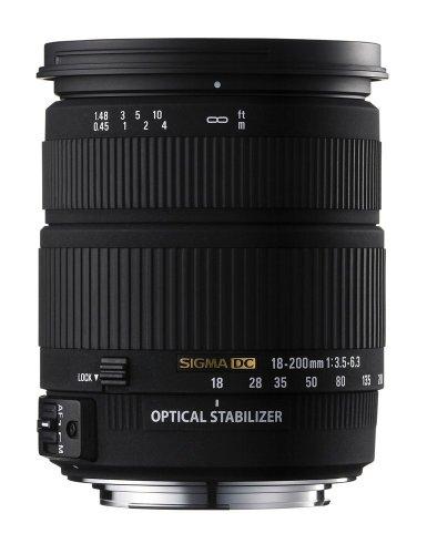 The Electronics World |   Sigma AF 18-200mm f/3.5-6.3 DC OS (Optical Stabilizer) Zoom Lens for Sigma Digital SLR Cameras