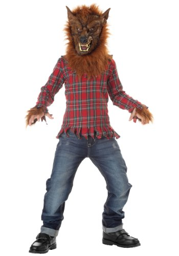 Big Boys' Deluxe Red Werewolf Costume
