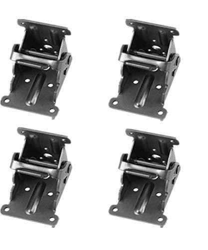 Tamu 90°Folding Brackets Lock Extension Support for Table Bed Leg Bronze Feet Steel Foldable Hinge- Leg Fittings and Corner Brace (Pack of 4 Bronze)