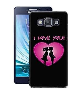 Fuson PVC-2D Metallic Pinted Logo Designer Back Case Cover for Samsung Galaxy A5 SM-A500F-D591