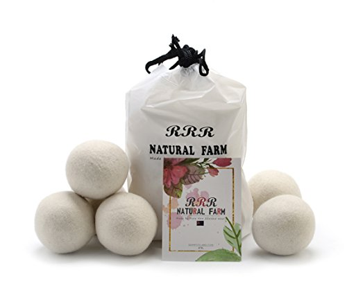 6-palle-7cm-diametro-100-organic-nuova-zelanda-gomitoli-di-lana-dryer-da-rrr-natural-farm-riutilizza