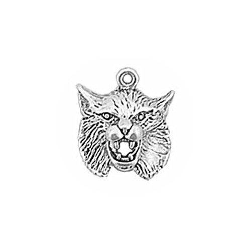 argent-925-charm-animaux-sauvages-bobcat-head-charm-par-commerce-de-detail-en-argent