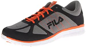 Fila Men's Speedweave Running Shoe,Monument/Pewter/Vibrant Orange,10 M US