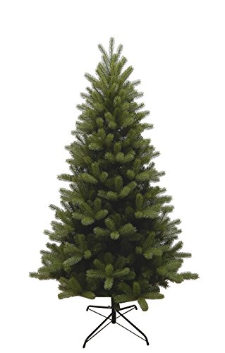 Forever Green 958962 Brewer albero di Natale artificiale, PVC plus PE, H 180 x D 109 cm, 878 punte, supporto in metallo, verde