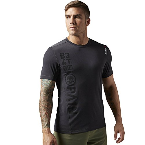 Reebok t-shirt da uomo a maniche corte Top One Series Breeze, Coal, L, AJ0836