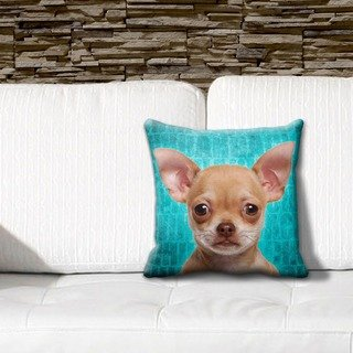 iLeesh PLGB0147 Chihuahua Brown Grunge Black Pillow