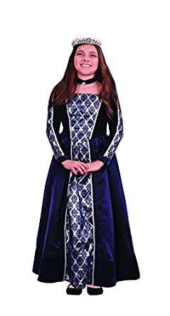 Girls Renaissance Costume Medieval Gown Halloween Princess Dress