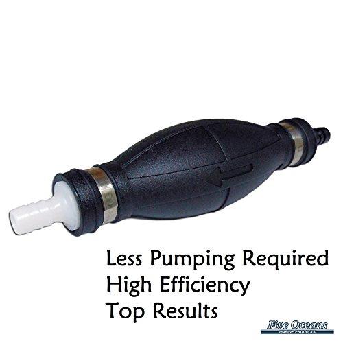 BIG Marine Primer Fuel Bulb for Boats & Rvs - For 3/8'' Hose - Lenght 7/2