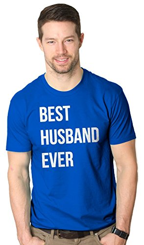 Best Husband Ever T Shirt Funny Wedding Married Man Tee Gift M