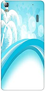 Snoogg Abstract Summer Background Designer Protective Back Case Cover For Len...