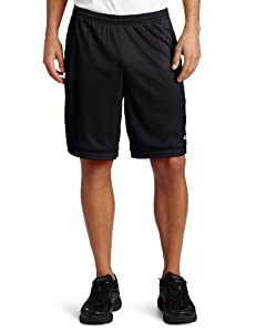 Champion Men's Long Mesh Short With Pockets,Black,X-Large