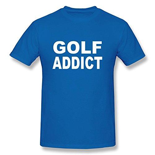 Jeff Mens Golfing Addict Shirts Royalblue Small
