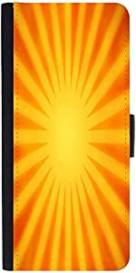 Snoogg Orange Rays Background Designer Protective Phone Flip Case Cover For Lenovo A6000