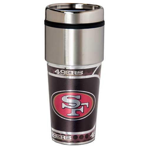 San Francisco 49Ers 16Oz Metallic Coffee Travel Mug