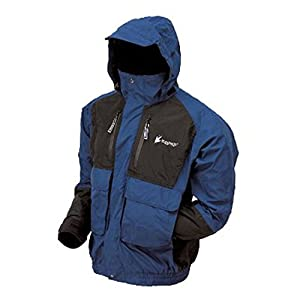 Frogg Toggs Men's Firebelly 2-Tone Jacket, Dust Blue/Black, Large