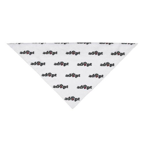 Aria Polyester/Cotton Blend Adopt Dog Bandana, 22-Inch, Black