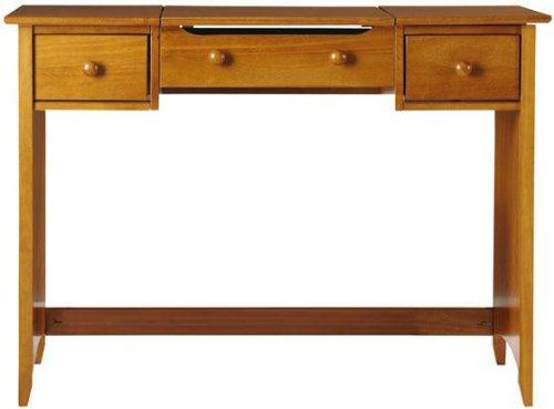 "Hawthorne Vanity With Folding Mirror, 32""Hx44""W, Oak front-1070576"