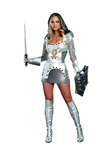 Dreamgirl Women's Sexy Royal Warrior Costume, Knight Time Female