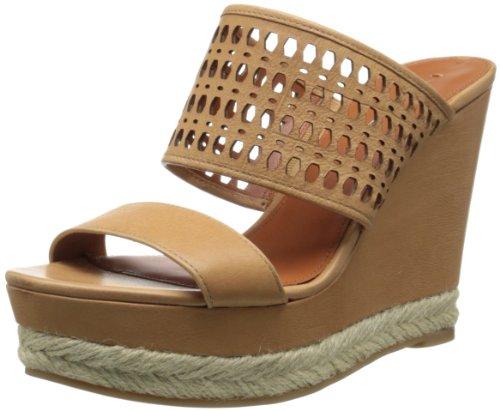 Camel Wedge Sandals