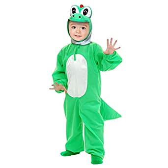 Yoshi Child Costume Super Mario Brothers Green Dinosaur Toddler Kids Boys Youth
