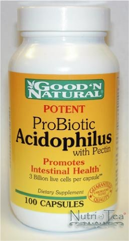 Potent Pribiotic Acidophilus 100 Caps - Good'n Natural