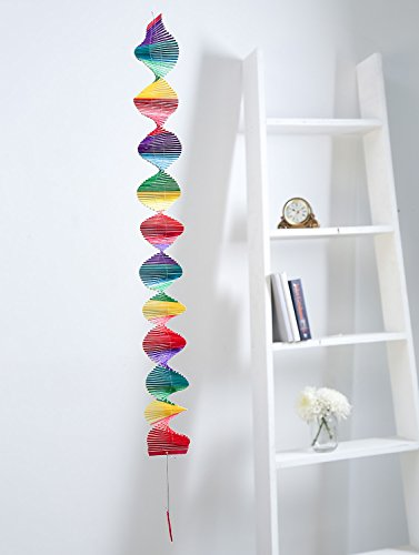 Colorful wooden sticks wind chimes