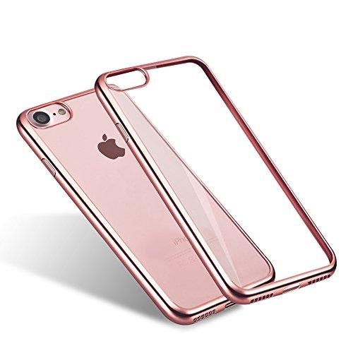 Ubegood iPhone7透明ケース アイフォンケース 携帯カバー メッ...