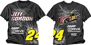 Buy Checkered Flag Jeff Gordon #24 Electric T-Shirt - Black by Checkered Flag